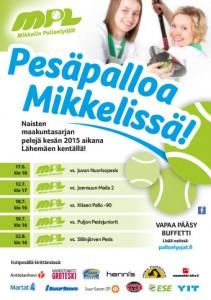 MPL Ottelujuliste Kesä 2015